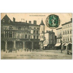 carte postale ancienne 54 PONT-A-MOUSSON. Maison des Sept Péchés Capitaux Place Duroc 1913
