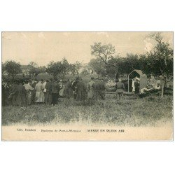 carte postale ancienne 54 PONT-A-MOUSSON. Messe en Plein Air 1915