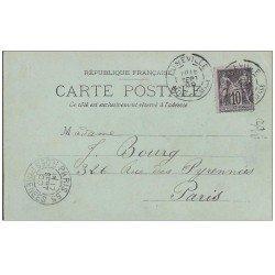 carte postale ancienne Rare 54 LUNEVILLE. Superbe carte pionnière 1899. Timbre 10 centimes