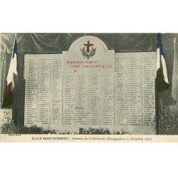 carte postale ancienne 54 NANCY. Ecole Saint-Sigisbert 19 rue Léopold. Professeurs Morts pour la France souvenir Inauguration