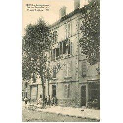 carte postale ancienne 54 NANCY. Bombardement 10 bis Boulevard Lobau Epicerie et Boucherie
