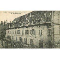 carte postale ancienne 54 NANCY. Bombardement Rue du Général Drouot. Bonneterie Charleville
