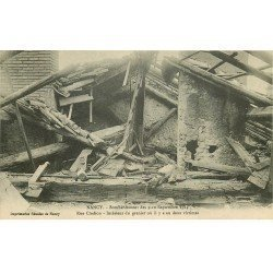 carte postale ancienne 54 NANCY. Bombardement Rue Clodion Grenier où il y a eu 2 victimes