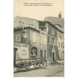carte postale ancienne 54 NANCY. Bombardement Rue Sainte-Anne Maison du Culte Evangélique et Cave à vins