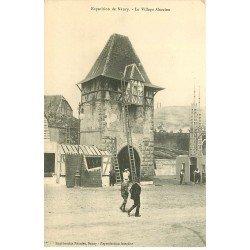 carte postale ancienne 54 NANCY. Exposition Le Village Alsacien avec échelles