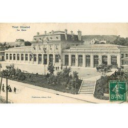 carte postale ancienne 54 TOUL. La Gare 1911