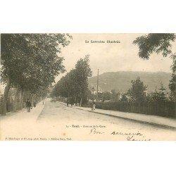 carte postale ancienne 54 TOUL. Avenue de la Gare 1903