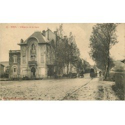 carte postale ancienne 54 TOUL. Avenue de la Gare