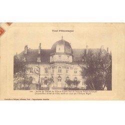 carte postale ancienne 54 TOUL. Jardin Hôtel de Ville 1911