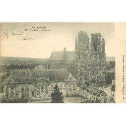 carte postale ancienne 54 TOUL. Hôtel de Ville 1903 Cathédrale