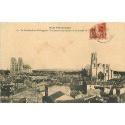 carte postale ancienne 54 TOUL. Cathédrale et Saint-Gengoult 1911