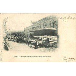 carte postale ancienne 54 TOUL. Brasserie de Champigneulles Quai de chargement 1901