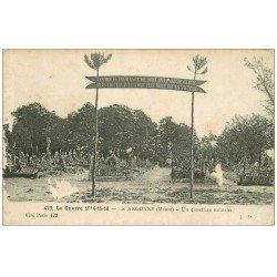 carte postale ancienne 55 ARGONNE. Un Cimetière Militaire