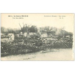 carte postale ancienne 55 AUZECOURT. Le Village 1916. Blancs bord droit...