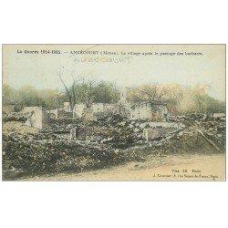carte postale ancienne 55 AUZECOURT. Le Village 1917