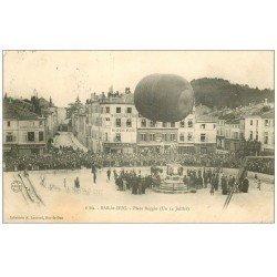 carte postale ancienne 55 BAR-LE-DUC. Le Ballon Captif Place Reggio 1905. Mongolfière et Aérostat