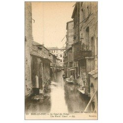 carte postale ancienne 55 BAR-LE-DUC. Le Canal des Usines