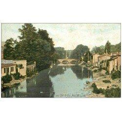 carte postale ancienne 55 BAR-LE-DUC. Pont du Lycée 1914