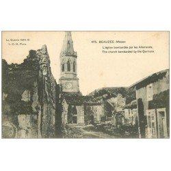 carte postale ancienne 55 BEAUZEE. L'Eglise 1916