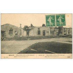 carte postale ancienne 55 BEAUZEE-SUR-AIRE. Ruines 1915