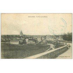 carte postale ancienne 55 CHALAINES. Pont sur la Meuse 1915