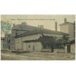carte postale ancienne 55 CHARNY. Maison où furent tués deux Officiers allemands 1907