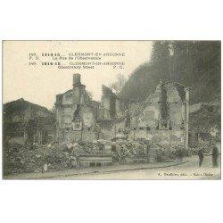 carte postale ancienne 55 CLERMONT-EN-ARGONNE. Rue de l'Observatoire 1915
