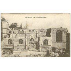 carte postale ancienne 55 CLERMONT-EN-ARGONNE. Ruines 1917