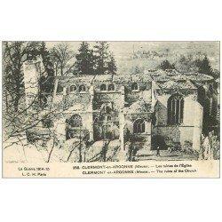 carte postale ancienne 55 CLERMONT-EN-ARGONNE. Ruines de l'Eglise