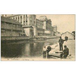 carte postale ancienne 55 COMMERCY. Le Château. Militaires et Chevaux 1918