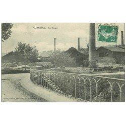 carte postale ancienne 55 COMMERCY. Les Forges 1908