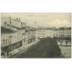 carte postale ancienne 55 COMMERCY. Place Hôtel de Ville 1907 avec Félix-Potin