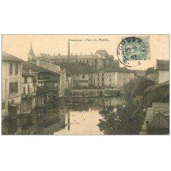 carte postale ancienne 55 COMMERCY. Pont du Moulin 1907