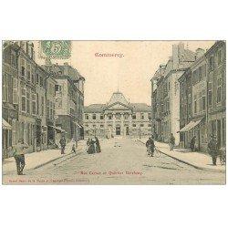 carte postale ancienne 55 COMMERCY. Rue Carnot Quartier Bercheny 1907