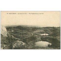 carte postale ancienne 55 DOUAUMONT. Abords du Fort