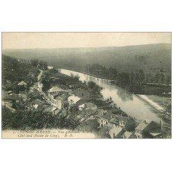 carte postale ancienne 55 DUN-SUR-MEUSE. Vue Route de Liny