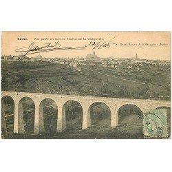 carte postale ancienne 12 RODEZ. Le Viaduc de Gasquerie 1905