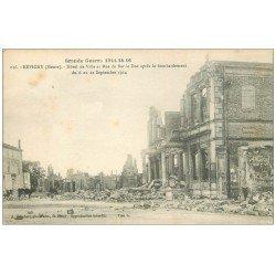 carte postale ancienne 55 REVIGNY. Hôtel de Ville et Rue de Bar-le-Duc 1916