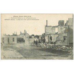 carte postale ancienne 55 REVIGNY. Rue de la Gare 1916 animée