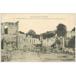 carte postale ancienne 55 REVIGNY. Rue de la Paix 1917