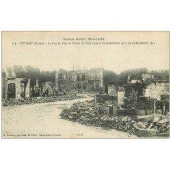 carte postale ancienne 55 REVIGNY. Rue de Vitry et Hôtel de Ville 1916