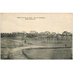 carte postale ancienne 02 CITE DE TERGNIER. Buttes Chaumont. chemin de Fer du Nord