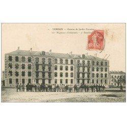 carte postale ancienne 55 VERDUN. Caserne Jardin Fontaine. Guerre 1914-18