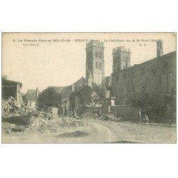 carte postale ancienne 55 VERDUN. Cathédrale Porte Châtel. Guerre 1914-18