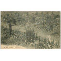 carte postale ancienne 55 VERDUN. Cimetière Faubourg Pavé. Guerre 1914-18