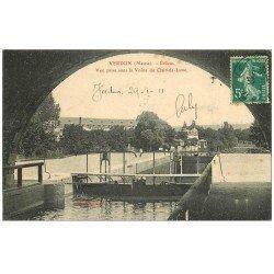 carte postale ancienne 55 VERDUN. Ecluse Voûte du Clair de Lune 1911