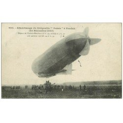 carte postale ancienne 55 VERDUN. Guerre 1914-18. Atterrissage Dirigeable 1907