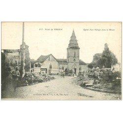 carte postale ancienne 55 VERDUN. Guerre 1914-18. Eglise d'un Village dans la Meuse