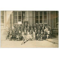 carte postale ancienne 57 CHATEAU-SALINS. Harmonie Sainte-Cécile. Superbe Carte Photo rare Musiciens