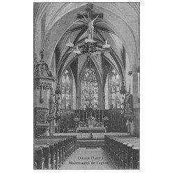 carte postale ancienne 57 DIEUZE. Maître-Autel de l'Eglise